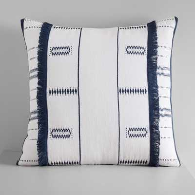 Indigo Stripes + Diamond Pillow Cover - West Elm