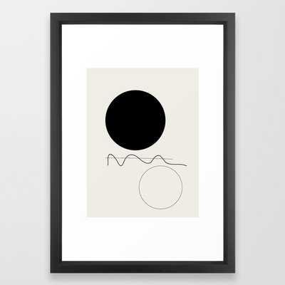 Abstract 07 Framed Art Print 15x21 Vector Black Frame - Society6