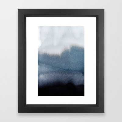"In Blue Framed Art Print by Georgianaparaschiv, FRAME Vector Black, X-Small - 10"" X 12"" - Society6"