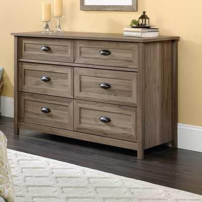Rossford 6 Drawer Dresser, Salt Oak - Wayfair
