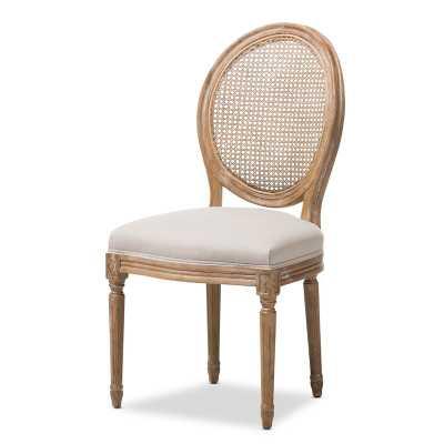 Meiners Linen King Louis Back Side Chair in Brown - Wayfair