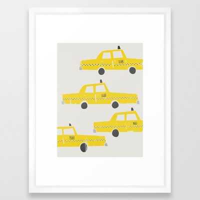 New York Taxicab Framed Art Print - Society6