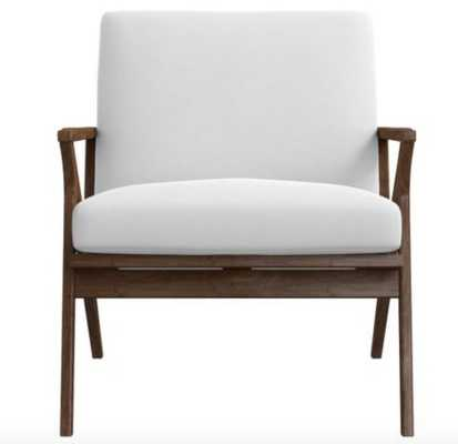 Cavett Wood Frame Chair - view white - Crate and Barrel