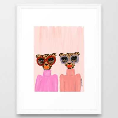 Two Cheetahs Framed Art Print by theebouffants - Society6