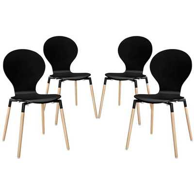 Path Dining Chair Set of 4 - Modway Furniture