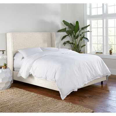 Alrai Upholstered Panel Bed - Zuma White, King - Wayfair