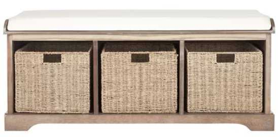 Roselli Upholstered Storage Bench - Wayfair