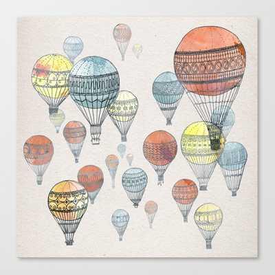 Voyages Hot Air Balloons Canvas Print - Society6