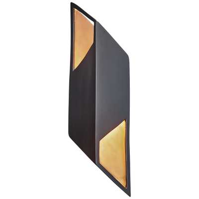"""Ambiance Collection 17 1/2""""H Matte Black LED Wall Sconce - Style # 60X30 - Lamps Plus"""