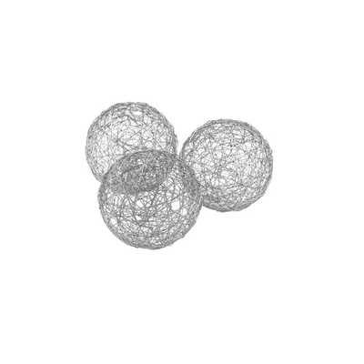 Manchester 3-Piece Wire Ball Sculpture Set (Set of 3) - Wayfair