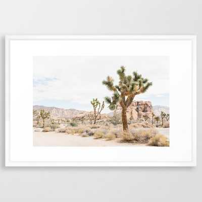 joshua tree boho cactus desert wall art landscape photography print Framed Art Print - Society6