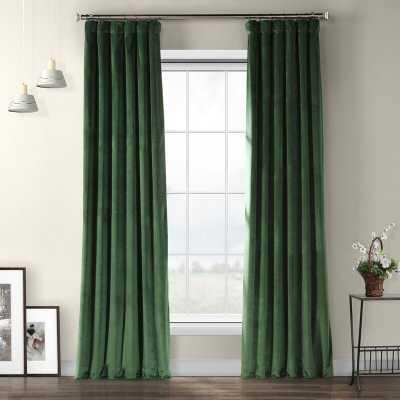 Livia Velvet Solid Color Room Darkening Thermal Rod Pocket Curtain Panel - AllModern