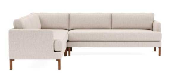 "WINSLOW 87"" 4-Seat Corner Sectional, Wheat Cross Weave - Interior Define"