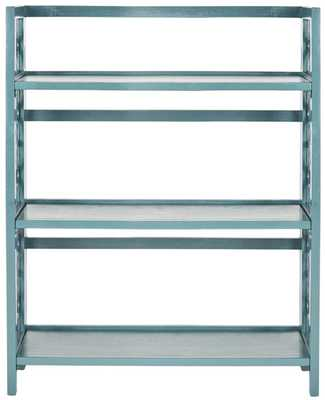 Natalie 3 Tier Low Bookcase - Slate Steel - Arlo Home - Arlo Home