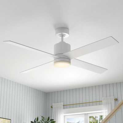 "52"" Rinke 4 Blade Ceiling Fan with Remote, Light Kit Included - Wayfair"