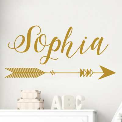 Arrow Name Nursery Wall Decal_Millie - Wayfair