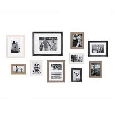 10 Piece Sturminster Gallery Picture Frame Set- multi/black - Wayfair
