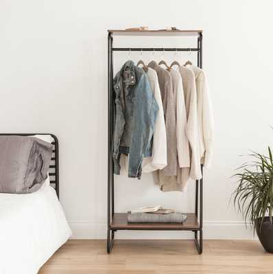 """25.2"""" Garment Rack w/ Top Shelf - Wayfair"""