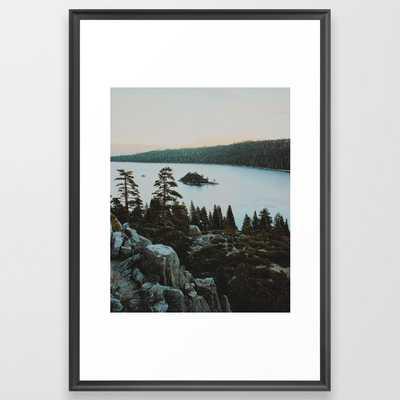"Exploring South Lake Tahoe Framed Art Print Large (gallery) - 26"" X 38""- Scoop Black Frame - Society6"