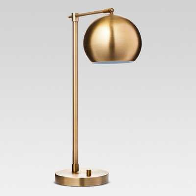 Modern Globe Desk Lamp Brass Lamp (Includes Energy Efficient Light Bulb) - Project 62 - Target