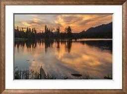 USA, Colorado, Rocky Mountain National Park. Sprague Lake at Sunset - art.com