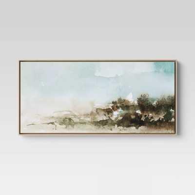 "47"" X 24"" Watercolor Landscape Framed Canvas - Project 62 - Target"