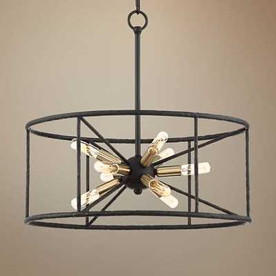 "Possini Euro La Vista 20 1/4"" Wide Black 9-Light Pendant - Lamps Plus"