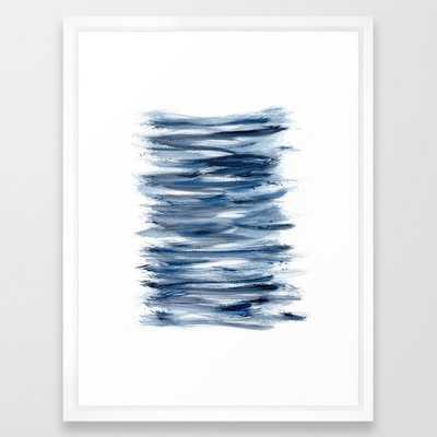 Just Indigo 2 | Minimalist Watercolor Framed Art Print - Society6
