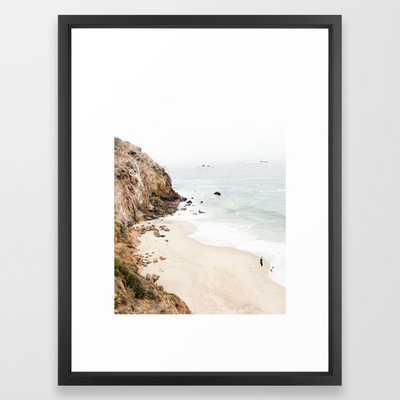 "Malibu California Beach Framed Art Print, 20""x 26"" - Society6"