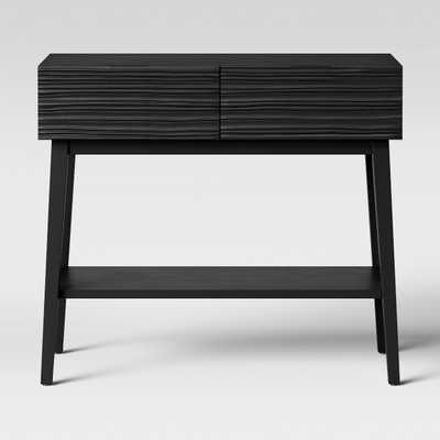 Palmetto Cut and Groove Console Table Black - Opalhouse - Target