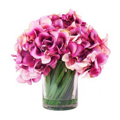 Hydrangea in Acrylic Water Vase - Wayfair
