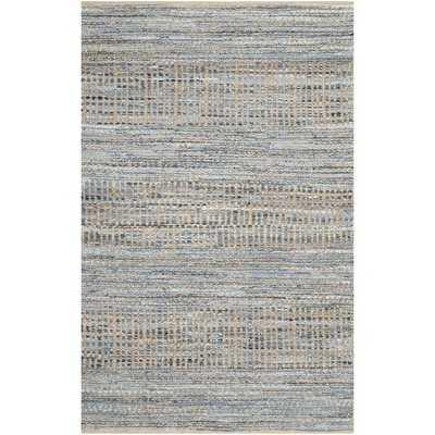 Kellar Hand-Woven Natural/Blue Area Rug, 10' x 14' - Wayfair