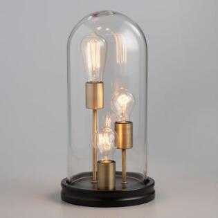 Glass Cloche 3 Edison Bulb Table Lamp by World Market - World Market/Cost Plus
