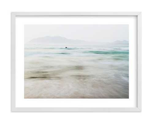 "the pacific 24"" x 18"", white frame, white border, with signature - Minted"