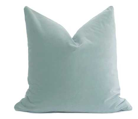 Belgium Velvet Pillow Cover -Seafoam- 22x22 - No Insert - Willa Skye