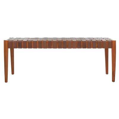 Albanese Leather Bench - Wayfair