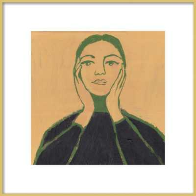 "Maria Callas - 16x16"" - - Frosted Gold Metal Frame with Matte - Artfully Walls"