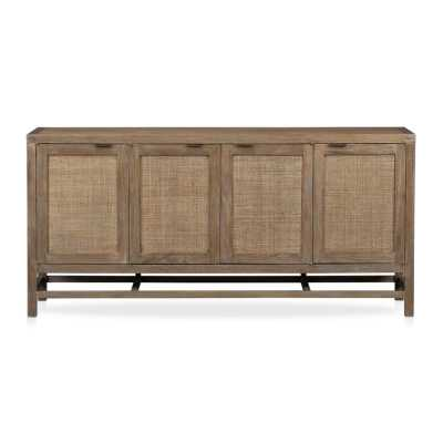 "Blake Grey Wash 68"" Media Console - Crate and Barrel"