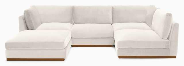 Holt Armless U-Sofa Sectional (5 piece) - Joybird