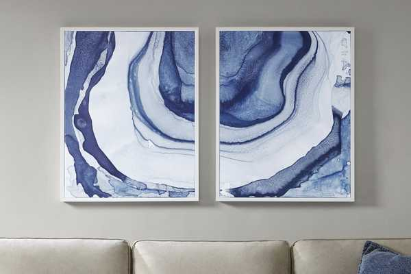 Ethereal - 2 Piece Picture Frame Graphic Art Print Set on Canvas - AllModern