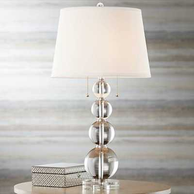 Vienna Full Spectrum Stacked Crystal Spheres Table Lamp - Lamps Plus