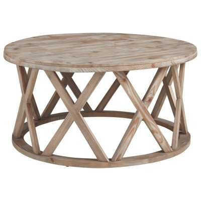 Nyles Solid Wood Frame Coffee Table - Wayfair