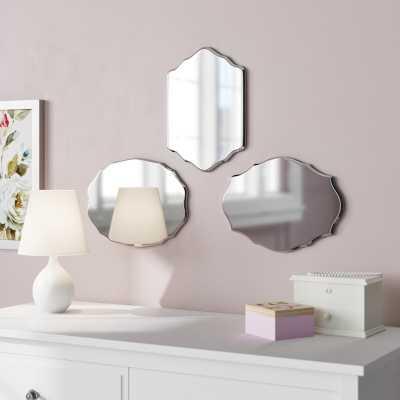 Leetsdale 3 Piece Mini Frameless Mirror Set - Wayfair