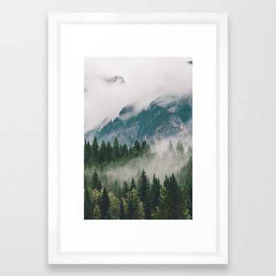 """Vancouver Fog Framed Art Print - 15"""" x 21"""" - vector white frame - Society6"""