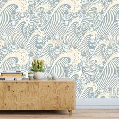 The Great Wave Wallpaper (removable) - Etsy