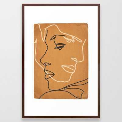 Abstract Face 15 Framed Art Print - Society6