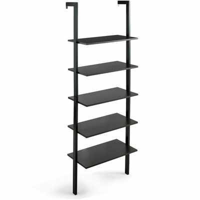 5-tier Ladder Shelf Wood Wall Mounted Bookshelf W/metal Frame Display Shelf - Wayfair