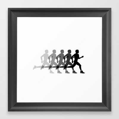 Sports man running Framed Art Print - Society6