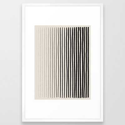 Black Vertical Lines Framed Art Print - Society6
