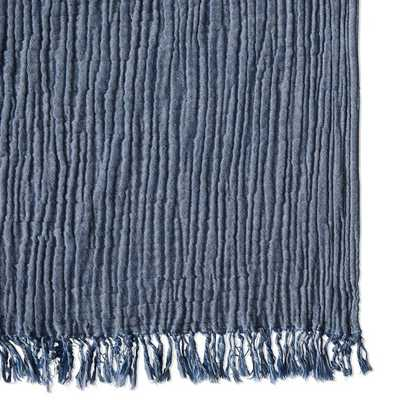 "Cocoon Cotton Blanket, 90"" X 90"", Blue - Williams Sonoma Home"